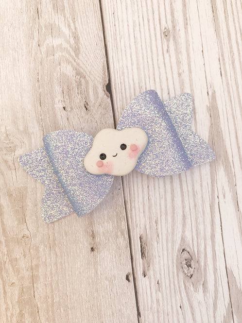 Cloud Glitter Hair Bow