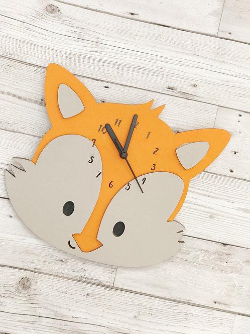 Children's Wooden Fox Clock
