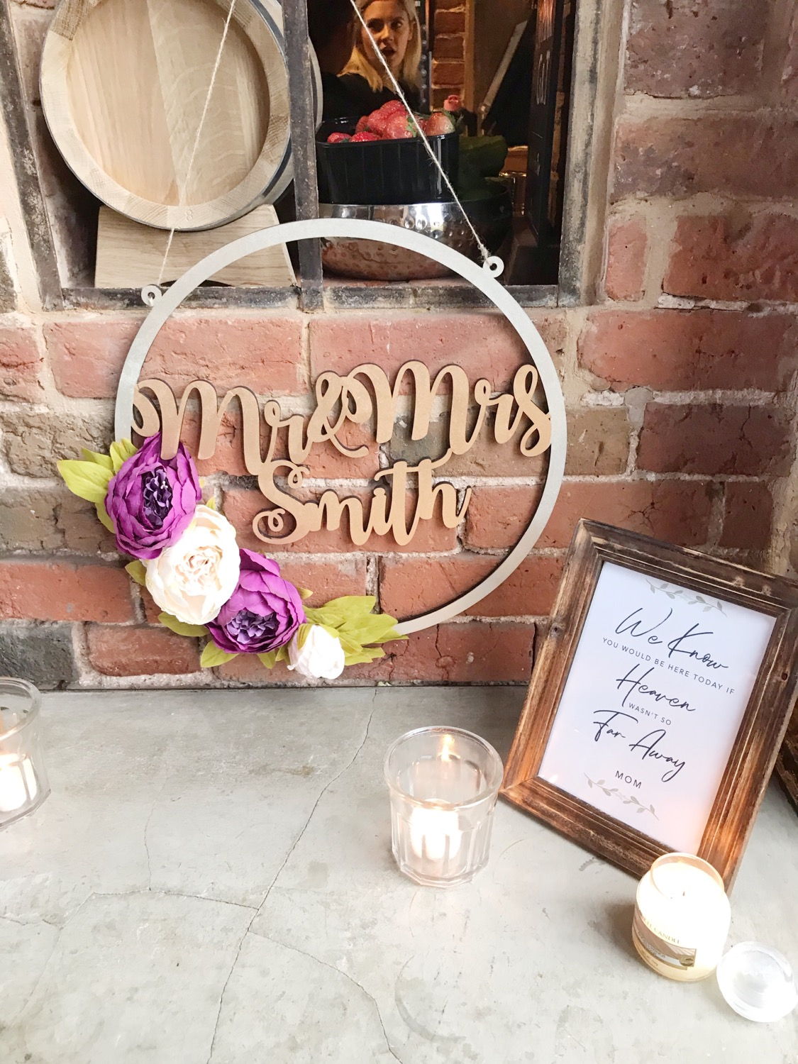 Thumbnail: Personalised Wooden Floral Hoop