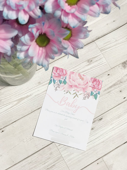 Floral Save The Date, Baby Shower, Wedding Invitation