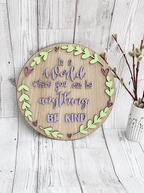 Be Kind Wall Plaque