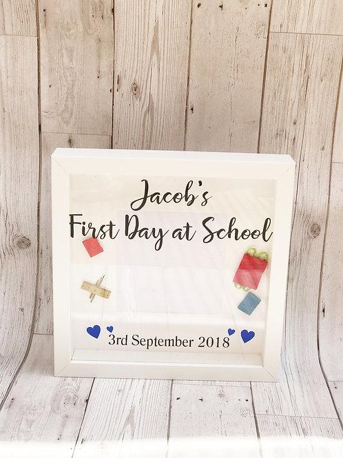 First Day At School Keepsake Photo Frame