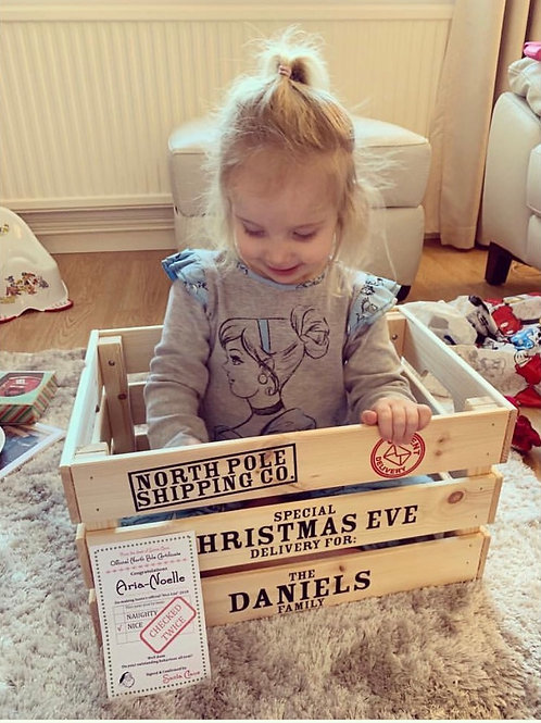 Personalised Wooden Christmas Eve Crate