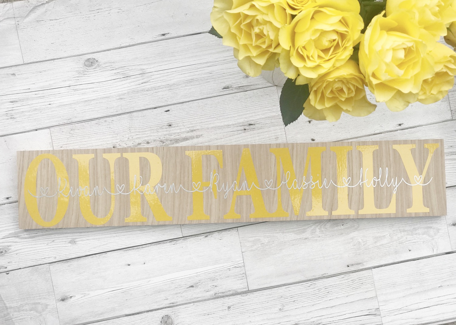 Thumbnail: Freestanding MDF Family Plaque