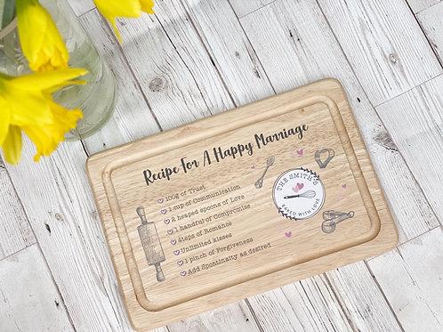 Personalised Wedding day keepsake Board