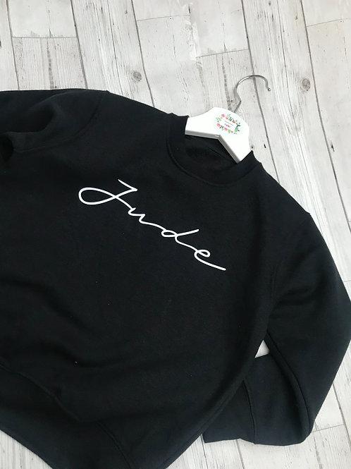 Personalised Boys Monochrome Sweater