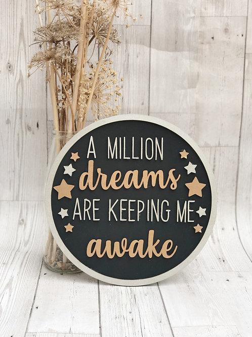 Wooden Dreams Quote Wall Plaque