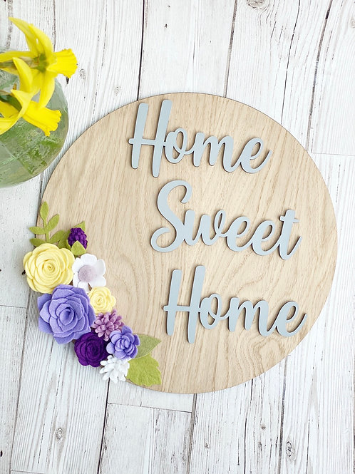 Home Sweet home Oak Wall Plaque