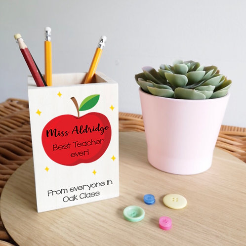 Personalised Pencil pots Teacher gifts