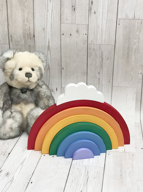 Wooden Stacking Rainbow. Room Decor.