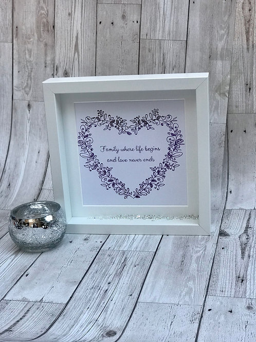 Foil Print Personalised Wreath