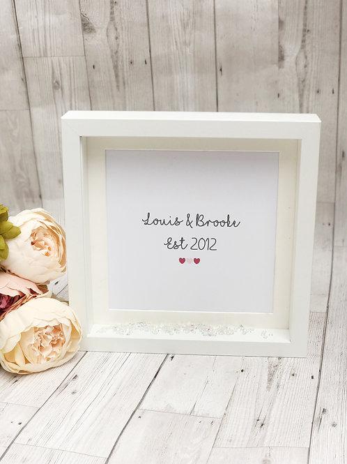 Personalised Keepsake Special date Box Frame