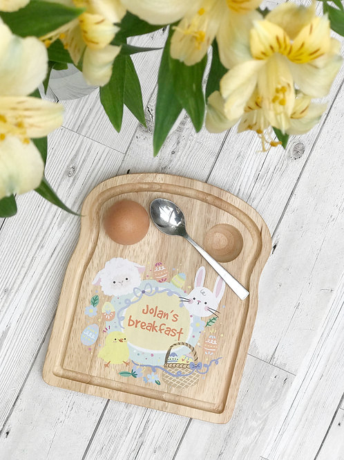 Personalised Easter Breakfast Tray