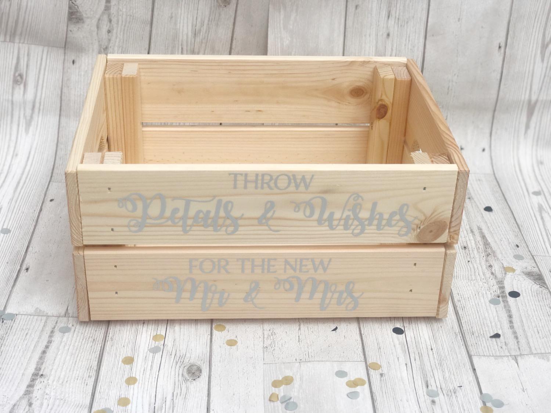 Wooden Confetti Crate
