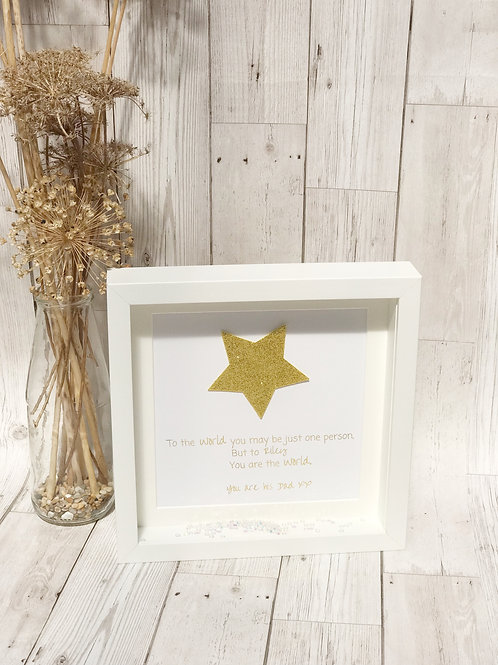 Glitter Star Quote Frame