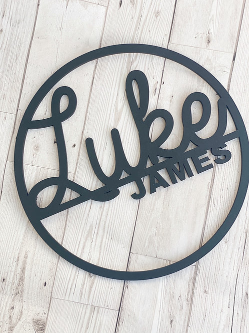 Personalised Monochrome Wall Sign