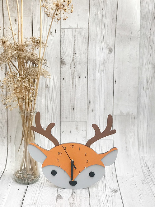 Woodland Themed Deer Wall Clock
