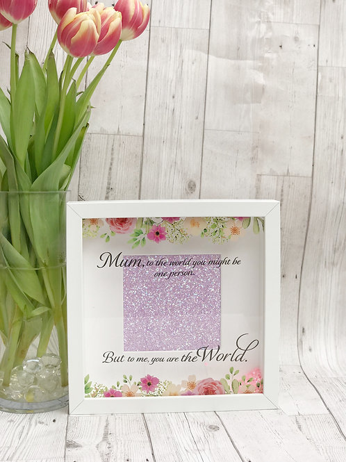 Floral Quote Mum Box Frame