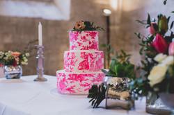 wedding cake toile de jouy