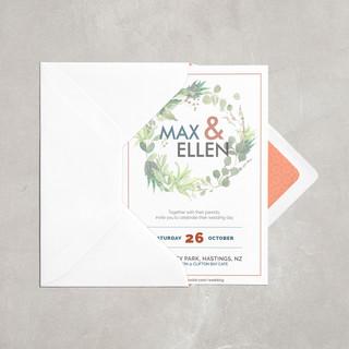 Max & Ellen Wedding Invite