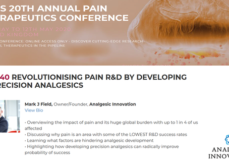 Revolutionising pain R&D by developing Precision Analgesics