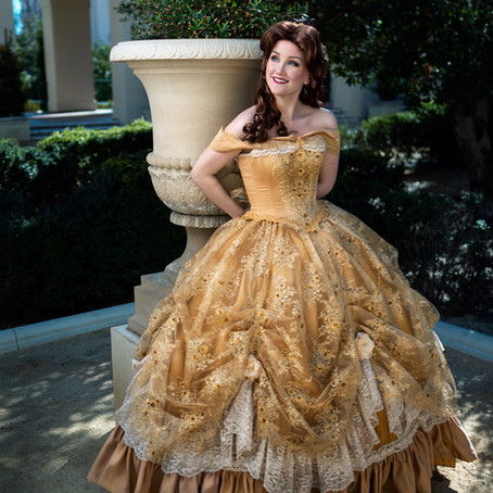 Belle Gold Dress Tutorial