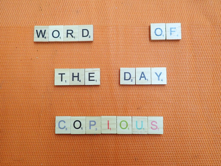 Word of the Day - Copious