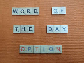 Word of the Day - Option