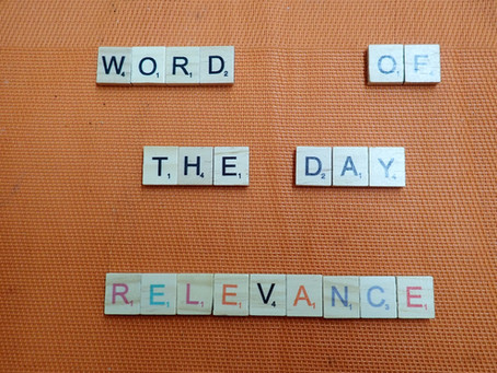 Word of the Day - Relevance