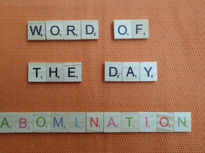 Word of the Day - abomination