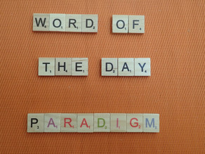 Word of the Day - paradigm