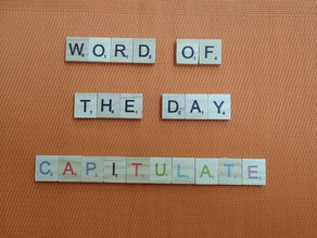 Word of the Day - capitulate