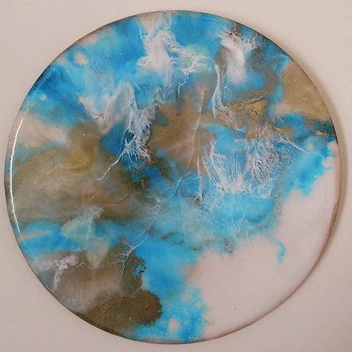 Light Blue White Gold Disk