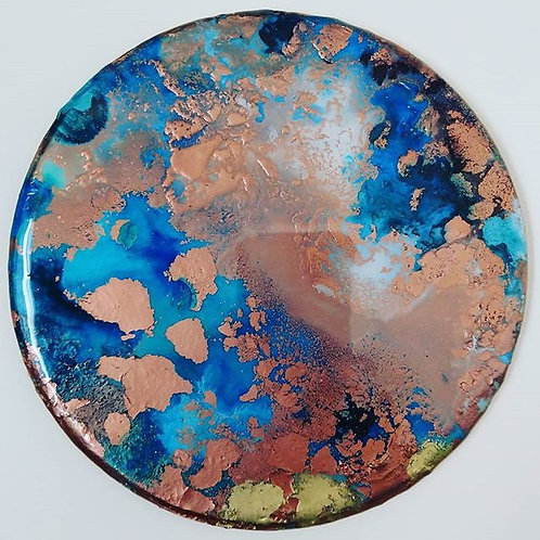Rose Gold and Blue Disk