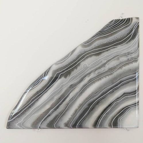 Gray Agate Slice Resin Art