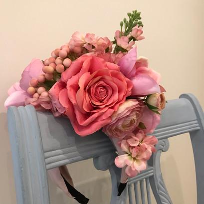 Bespoke floral headpiece