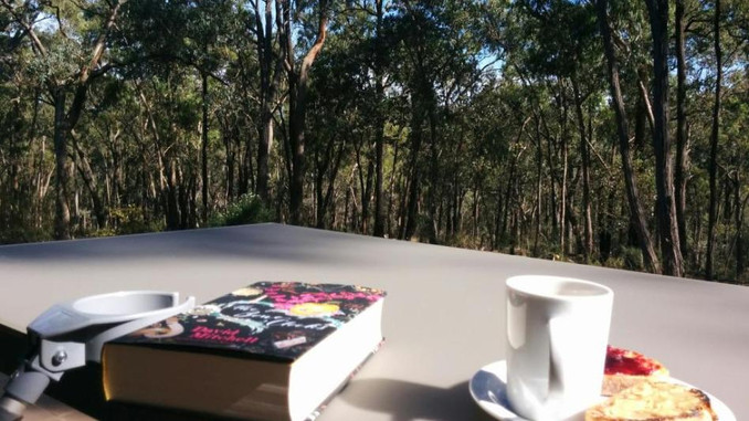 SOME CRUTCHES, A BOOK, COFFEE AND THE BUSH!