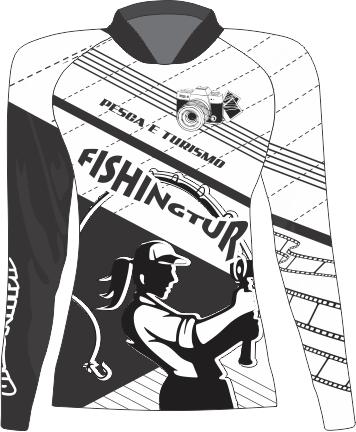 Camiseta Feminina Sublimada Manga Longa - Dryfit -B&W - FPT 091