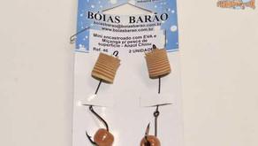 Novos Chicotes Boias Barão para a pesca de superfície com EVA's e miçangas