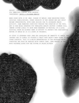 Mock Document Scan
