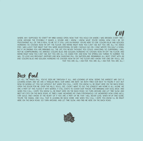 Album Liner Notes - Lyrics
