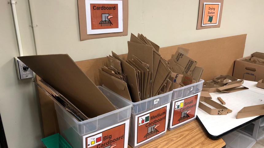 Cardboard sorting