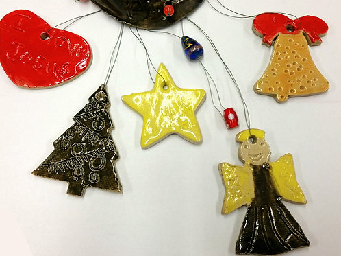 Pottery Wheel/Clay-Ornaments and Tree/1-2:30 p.m./November 14th
