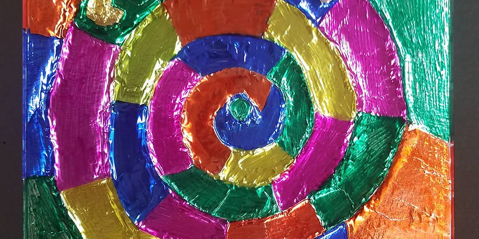 Inovative and Recycled art for homeschoolers-foil art