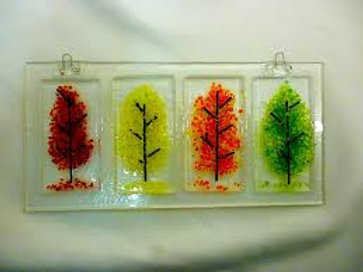 Fused Glass Leaves/9:30-10:15 a.m./October 9th