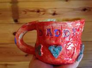 Pottery Wheel mug and Fused glass snowflake/10-11 a.m./October 15th