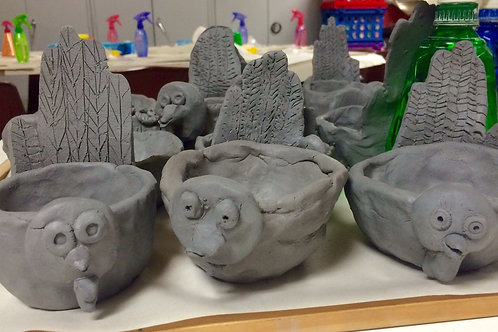Pottery Wheel/Clay-Turkey and Basket/2:45-4:15 p.m./October 10th