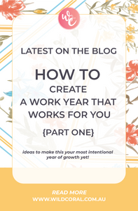 how to create a work year that works for you