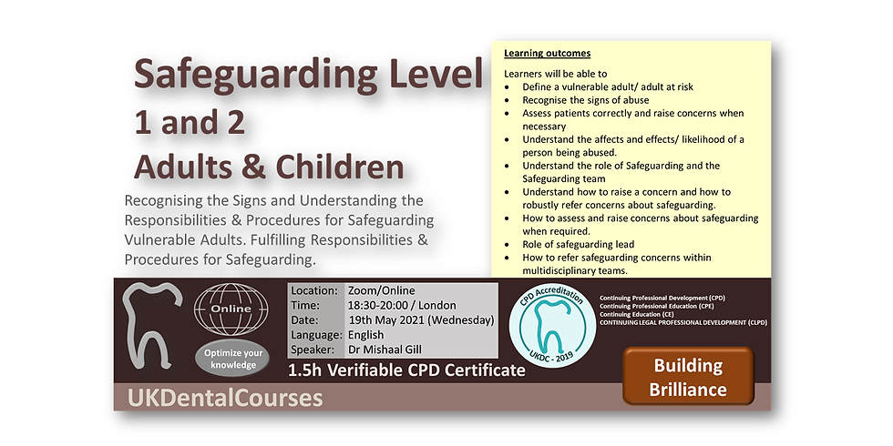 Safeguarding Level 1/2 (Adults and Children)