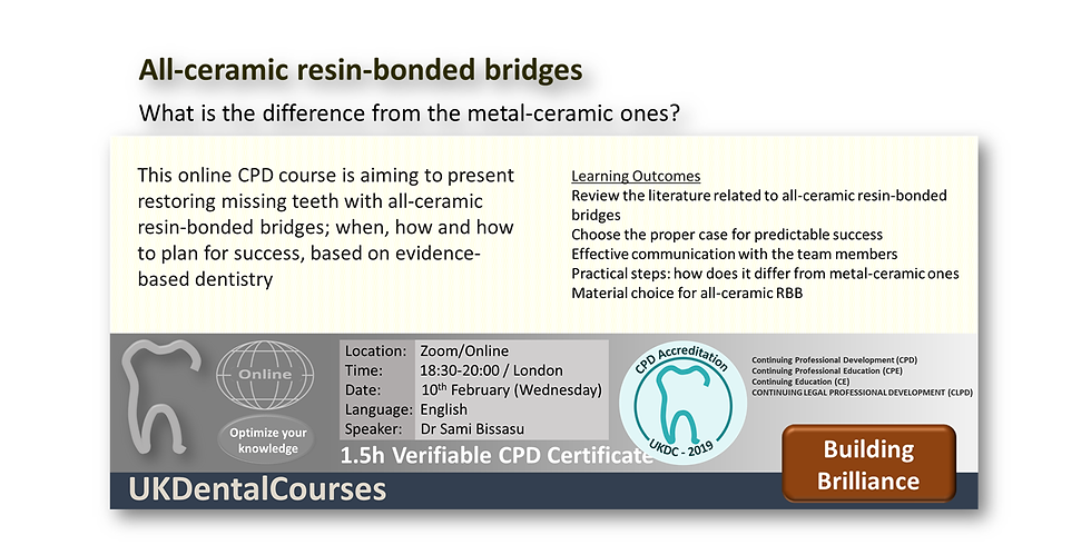 All-ceramic resin-bonded bridges: What is the difference from the metal-ceramic ones?
